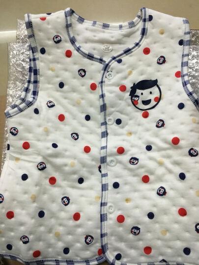 南极人婴儿空气棉马甲儿童夹棉背心宝宝春秋款保暖衣服外出款 提花小熊-浅灰 80CM 晒单图