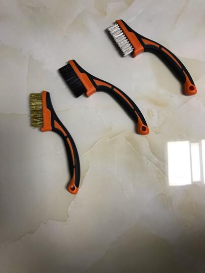 拓为(Tactix) 315013 钢丝刷 不锈钢钢丝刷工业刷子 除锈刷金属刷 钢刷 毛刷 晒单图