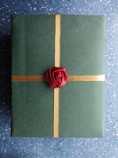 礼物包装纸七夕情人节包装纸 纸寿千年 亚麻纸 78x109厘米商务礼品包装纸创意礼物盒纸 120g森绿787X1092 晒单图