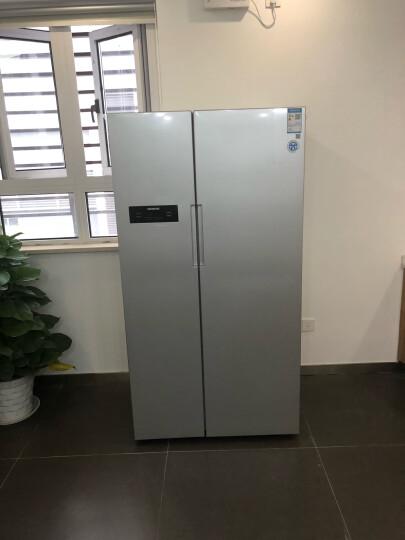 西门子(SIEMENS)610升 变频风冷对开门冰箱 独立并联双循环(银色)BCD-610W(KA92NV60TI) 晒单图