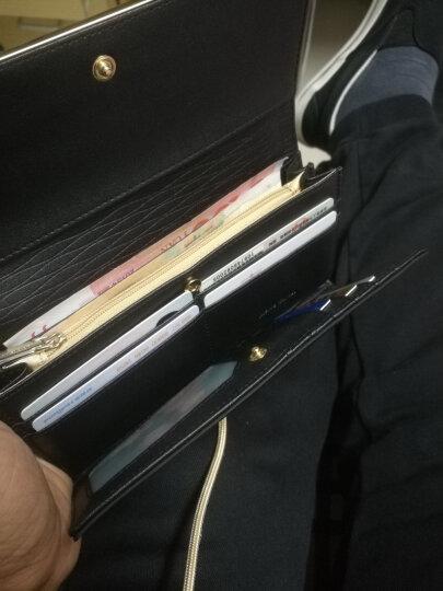 皮尔卡丹女士钱包时尚多卡位多功能真皮长款钱夹女牛皮票夹信封手包女 粉红色P6A660054-61S 晒单图
