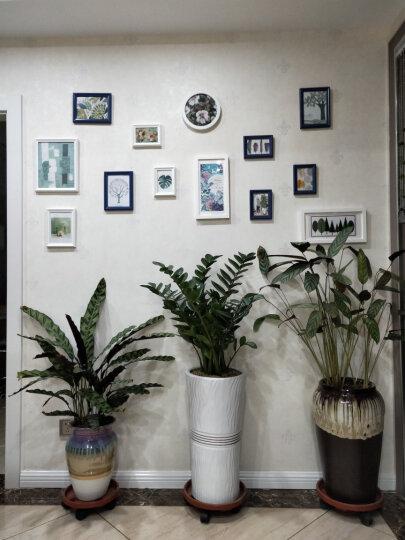 亮丽馨照片墙相框组合 相框架相片墙油画装饰画客厅卧室画墙贴画框沙发背景墙 11框+船舵+巧克力色+白色+欧式风情画心 晒单图