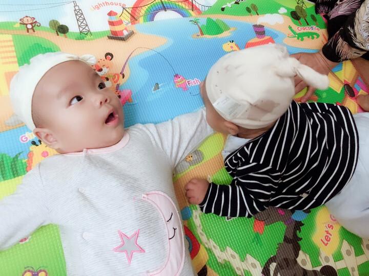 【韩国原装进口】帕克伦(Parklon)爬行垫XPE环保婴儿玩具泡沫地垫加厚宝宝爬爬垫 小熊谜语-单面图案 200x150x1.5cm 晒单图
