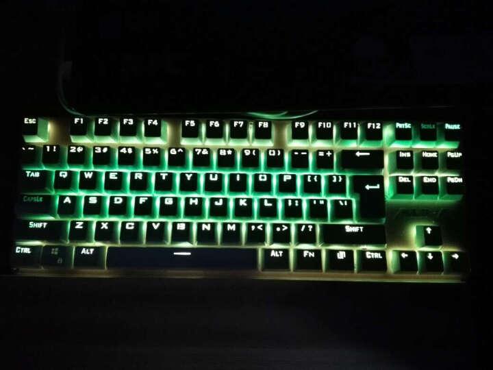 狼蛛(AULA)契约者RGB 机械键盘87键游戏键盘 机械青轴 土豪金版 晒单图