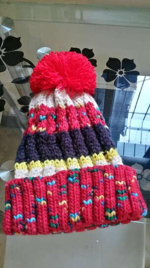 LOVEBBF.WLP&GYF 秋冬可爱撞色毛球帽 女士毛线帽子女 保暖加绒加厚针织帽 套头滑雪帽 MZ-71-浅灰(绒里) 晒单图