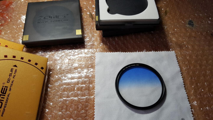 缔造者(DIZA) 缔造者超薄圆形渐变镜 特效滤镜  单反配件49/52/55/58/67/77mm 超值四色套装 77mm 晒单图