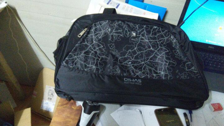 爱华仕旅行包男女旅游包旅行袋大容量行李包手提单肩斜挎防水7003 地图黑 晒单图