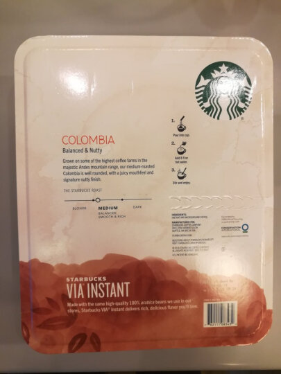 STARBUCKS 美国原装进口 STARBUCKS星巴克VIA速溶咖啡哥伦比亚无糖黑咖啡26条 限时特价星巴克VIA速溶咖啡*1 晒单图