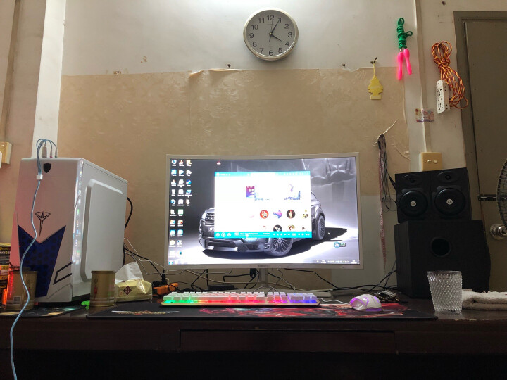 因卓(KOTION EACH) 电脑游戏耳机头戴式音乐智能降噪耳麦带麦克风话筒电竞绝地求生吃鸡 G2100 震动版 白蓝色 晒单图