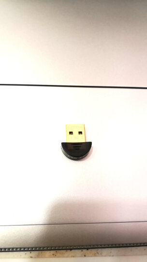 Vup 蓝牙适配器4.0免驱USB蓝牙接收器音频发射器 适用于笔记本台式电脑创意配件 弧形 黑色 晒单图