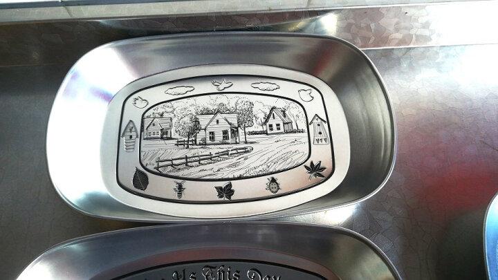 瓷彩美(CECEME)创意欧式果盘 马口铁不锈钢盘子现代客厅餐具零食托盘小吃干果收纳 咖啡馆款 盘子 晒单图