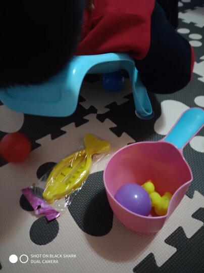 婴儿洗澡架 新生宝宝浴床 儿童沐浴架 浴盆网兜澡盆支架洗澡椅子 升级蓝+绿(礼品) 晒单图