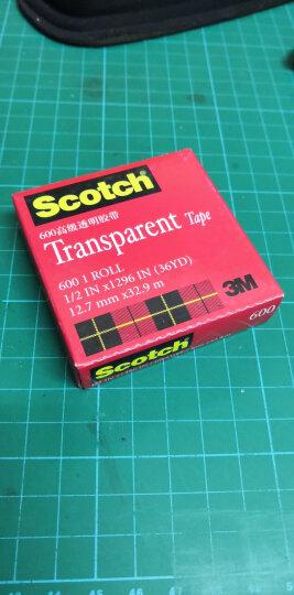 3M思高Scotch透明胶带测试胶带500 600无痕胶带学生文具家居用品 600 12.7mm*32.9m 晒单图