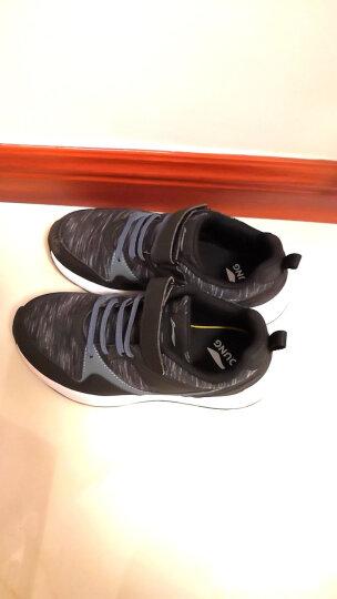 李宁官方童鞋男大童耐磨防滑童休闲鞋YKCM012-11 花灰纹黑/风暴灰 3 (内长210mm) 晒单图