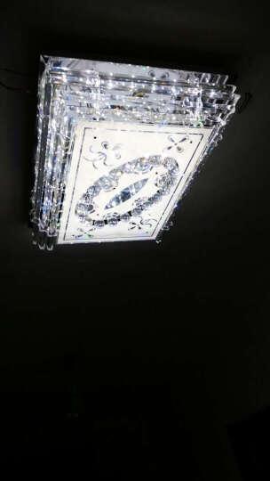 蒙特丽智慧云 客餐厅卧室平板水晶吸顶灯  时尚灯具自带LED贴片光源送遥控81系列 08款 80X60cm 晒单图