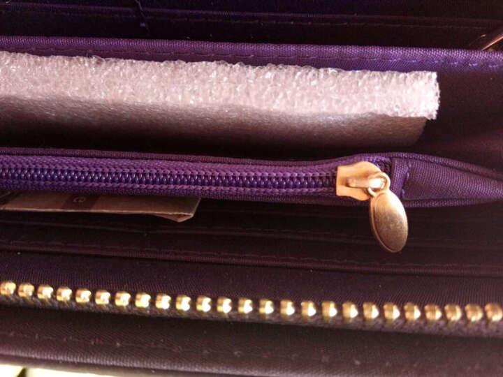 摩佧芙(MOCOFU)新款女士钱包女长款头层牛皮菱格手拿包单拉链真皮钱包MQ5022 太空黑 晒单图