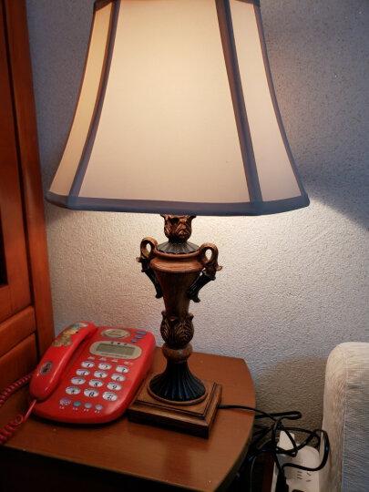 繁登堡(fandengbao)美式台灯卧室床头灯简欧式台灯客厅书房礼品礼物创意定制节日装饰台灯 晒单图