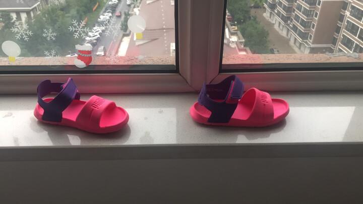 PUMA/彪马儿童凉鞋男女魔术贴WILD SANDAL INJEX PS沙滩鞋 亮粉红-紫色 29码/脚长17.5cm 晒单图