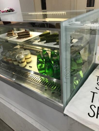慕蒙(VOMENT) 商用蛋糕柜 展示柜冷藏玻璃陈列柜 保温保鲜柜熟食柜 蛋糕冷藏柜 1.5米弧形立式后开门(黑色) 风冷无霜 晒单图