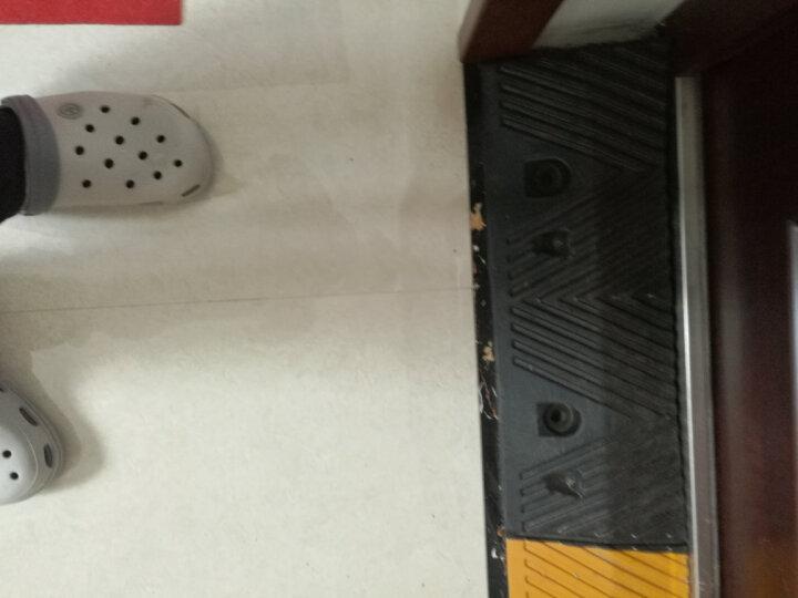 橡胶定位器橡胶减速带路沿坡马路牙子橡胶斜坡垫上坡三角台阶垫 100*25*8CM 晒单图