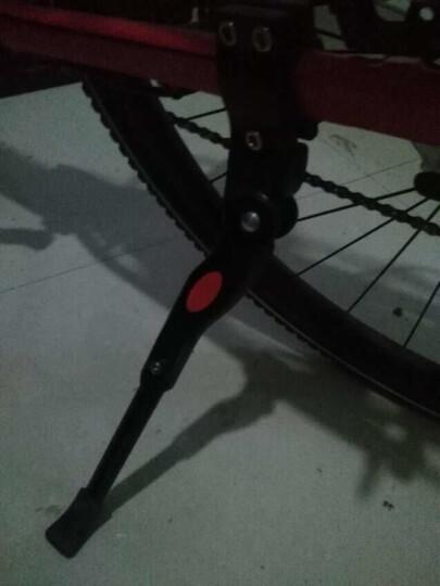 博沃尼克 铝合金自行车脚撑中支撑支架子 山地车边撑停车架脚架单车零配件 黑色 晒单图
