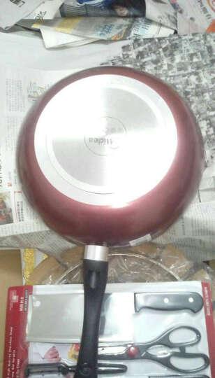 美的(Midea)不粘锅炒锅炒菜锅电磁炉燃气灶通用火红环感温CJ32WOK303 晒单图