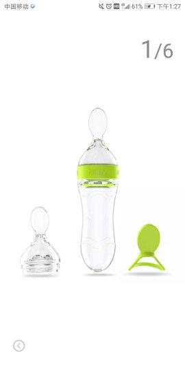 努比(Nuby)儿童餐具 新生儿硅胶挤压辅食喂养勺子 喂药器 两阶段组合套装 绿 美国品牌 晒单图