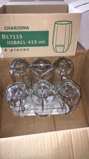 Ocean进口玻璃杯家用透明水杯套装耐热茶杯牛奶杯果汁杯喝水杯子 460ml六只装带杯架杯盘 晒单图