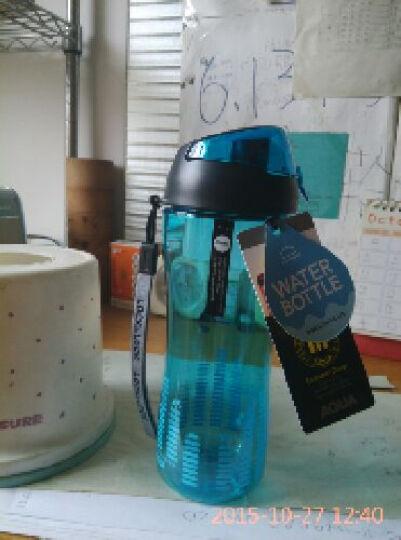 乐扣乐扣塑料PC运动杯550ml 随手杯防漏密封创意户外水杯  HLC628 蓝色 晒单图