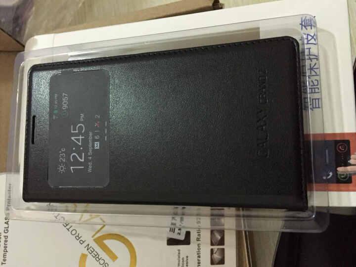 韩菲琪 智能保护套手机套适用于三星G7106/g7102/g7108v/g7109皮套 壳 酷炫黑 晒单图