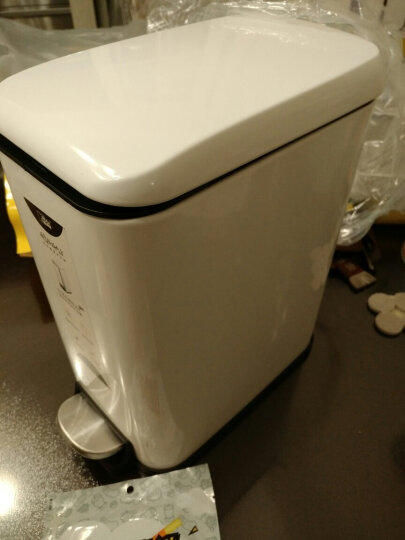 麦桶桶分类垃圾桶长方形垃圾桶卫生间窄创意时尚不锈钢脚踏家用欧式厨房客厅 cs plus5L 土豪金 晒单图