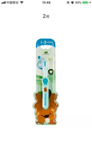 英国小树苗 儿童婴儿训练牙刷(蓝色) 软毛不伤牙龈 适合1-3岁宝宝 晒单图