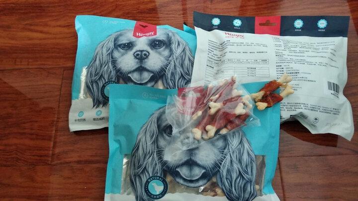 顽皮(Wanpy)肉干肉条 宠物食品零食狗狗零食宠物磨牙洁齿咬胶 鸡肉骨头卷400g 晒单图