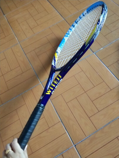 WITESS 网球拍碳纤维男女初学者套装(已穿线) 高雅青单只网拍w-5068 晒单图