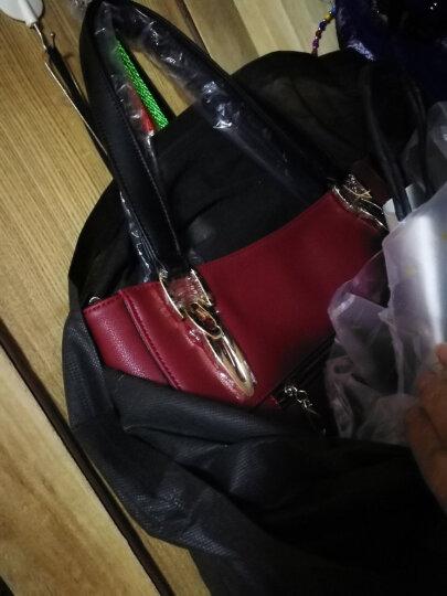 老人头/LAORENTOU 职业女包 真皮新款托特包  牛皮单肩手提包 商务OL通勤包潮 2C红色 晒单图