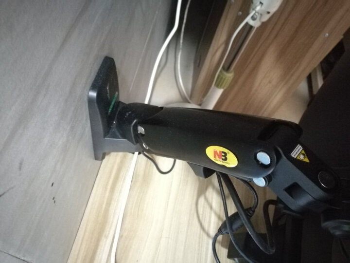 NB F120(17-27英寸)液晶电脑显示器支架多功能旋转显示器支架壁挂自由升降伸缩架三星AOC戴尔等部分通用黑 晒单图