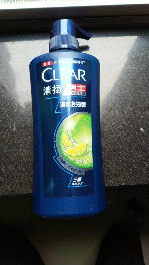 清扬(CLEAR)洗发水 男士去屑洗发露清爽控油型500g(新老包装随机发) 晒单图