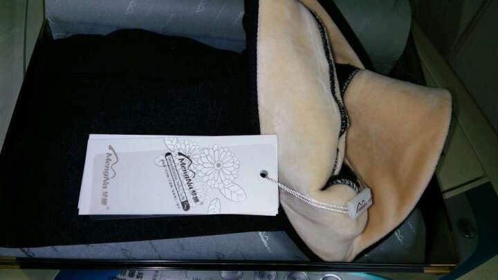 梦娜打底裤 男士 秋冬加厚加绒 羊羔绒感保暖修身一体裤礼盒装 黑灰色 均码 晒单图