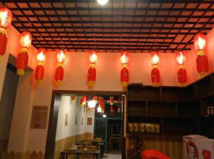 博利莱 冬瓜灯笼创业定制 日式灯笼 户外大红灯笼 茶 酒灯笼 开业广告灯笼绸布钢丝折叠灯笼 红色 6寸 晒单图