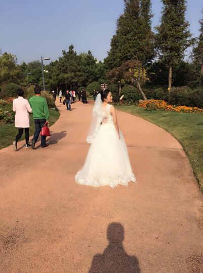 七色七音 韩版2017新款一字肩修身绑带韩式新娘婚纱礼服 H071 抹胸款 XXL 晒单图