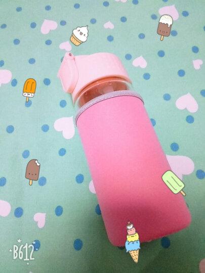 豆萁屁桃君水杯玻璃杯儿童孕妇创意塑料吸管便携成人卡通柠檬杯 食品袋夹子 晒单图