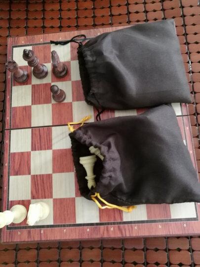 桌飞(UB) 友邦(UB)国际象棋儿童成人西洋木塑带磁性可折叠培训教学套装 3520L(XL号) 晒单图