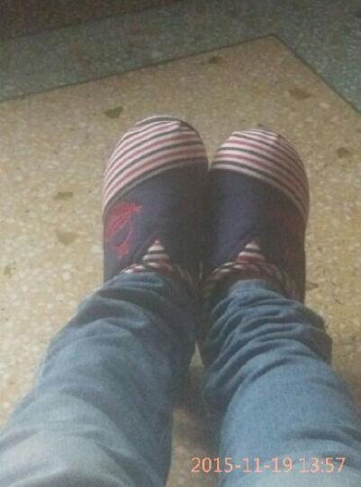 流氓兔棉拖鞋 男女情侣款秋冬季居家保暖卡通包跟棉拖鞋 玫红色 36适合35/36 晒单图