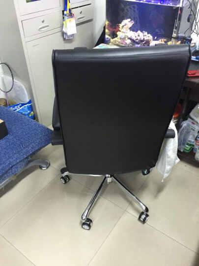 喜兔(Merry-Rabbit) 老板椅真皮办公椅人体工学中班椅电脑椅子可躺170度升降转椅搁脚 棕色西皮 晒单图