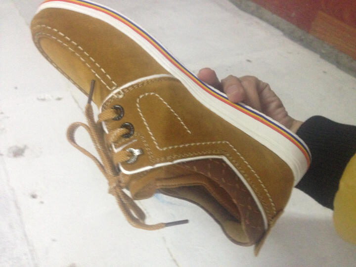 PLOVER男鞋新品皮鞋时尚休闲鞋皮鞋板鞋低帮英伦男士头层牛皮户外皮鞋男板鞋驾车鞋男 A02133黑色 40 晒单图