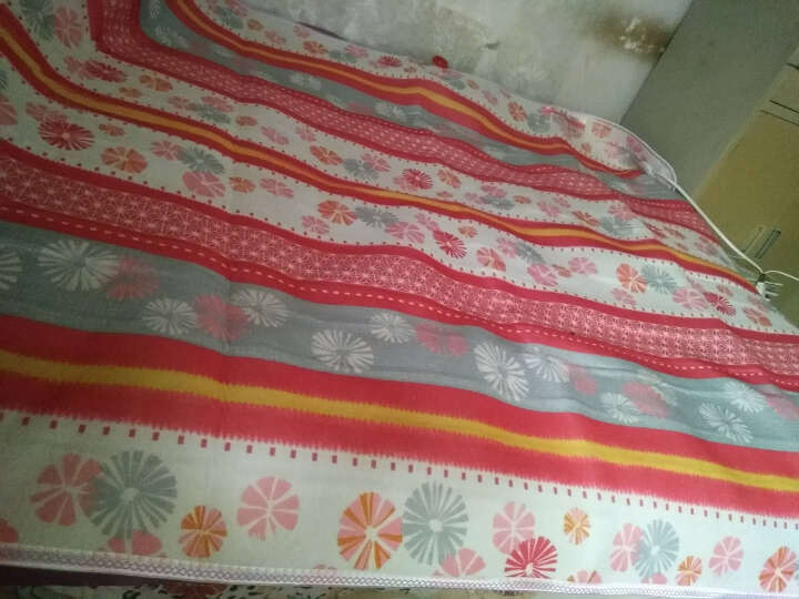 红豆(HONG DOU)电热毯双人双控安全双控调温1.5米1.8米加厚家用电褥子 红豆毛毯面料(图案随机) 180cmX200cm双人双控 晒单图