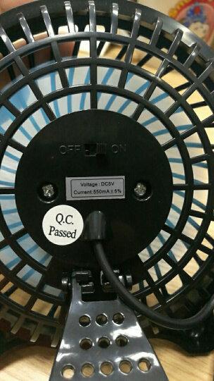 奥克斯(AUX)4A8 USB风扇 迷你电脑小风扇 USB迷你静音桌面型小风扇 黑色 晒单图