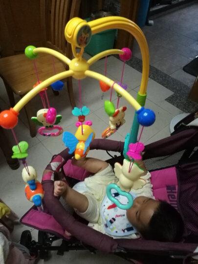 源乐堡(YuanLeBao)婴儿玩具0-1岁床头铃音乐旋转挂饰床铃新生儿摇铃宝宝牙胶0-6个月年货节 (配充电)遥控版梦幻森林 玫红 晒单图
