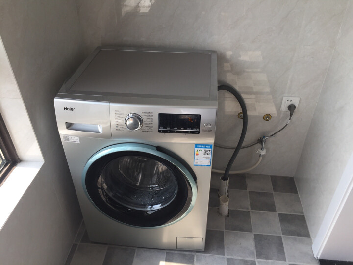 海尔(Haier) 滚筒洗衣机全自动 8公斤变频 双喷淋泡沫无残留 防霉 EG8012B39SU1 晒单图