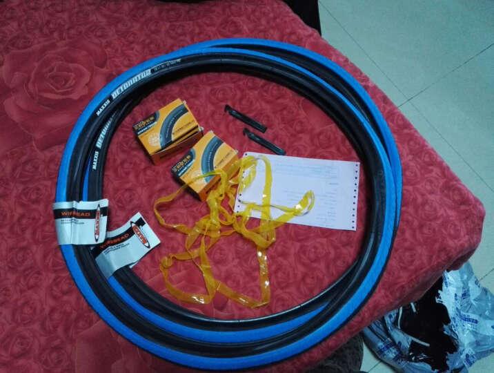 雪莲花单车(XLHBIKE) 玛吉斯自行车胎外胎26x1.5山地车骑行单车半光轮胎M型花纹自行车配件 蓝色外胎(一对) 26.1.5 晒单图